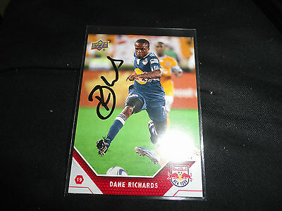 New York Red Bulls Dane Richards Autographed Signed 2011 UD MLS Card