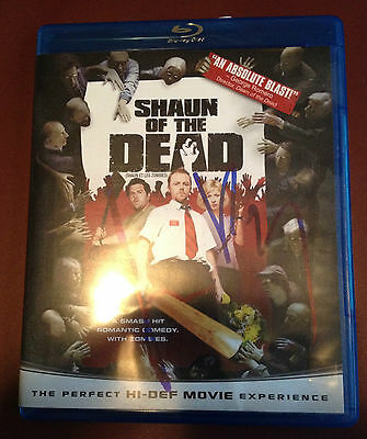 Shaun of the Dead Simon Pegg Autographed Signed Blu Ray DVD COA