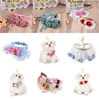 Adjustable Pet Dog Puppy Lace Collar Bib Neck Scarf Wedding Party Collar