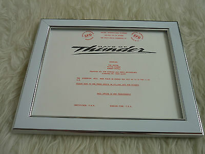 Days of thunder Tom cruise Official screening invite Double side Framed Original