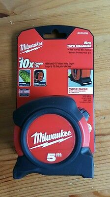 Milwaukee 5m Measuring Tape 5m  48225705 wide Base *SALE*