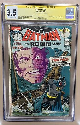 Batman 234 CGC Signature Series 3.5 Signed By Neal Adams 1st Modern Two Face