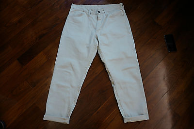 Vintage 1960s Twill Pants Tapered Fit W33 Gripper Zipper Union Made Sears LEE