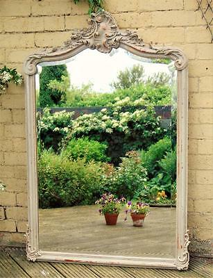 Beautiful French Painted Overmantel Mirror 19th Century