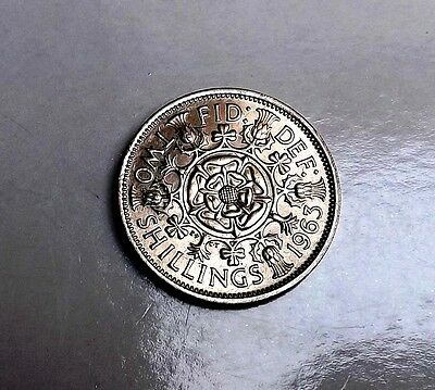 Elizabeth 1963 Florin/two-Shillings Unc