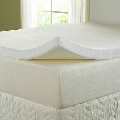 "Memory Foam Topper Orthopaedic Support All Sizes 3FT 4FT 5FT Depth 1"" 2"" 3"" 4"""