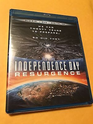 Independence Day: Resurgence (Blu-ray/DVD + Digital HD, 2016, 2-Disc Set) NEW