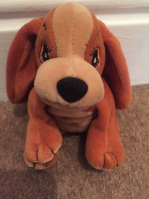 """Disney Lady And The Tramp 6"""" Lady Soft Plush Beanie Toy"""