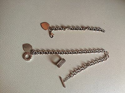 TIFFANY & CO Authentic Sterling Heart Tag Chain Bracelet 7.50IN