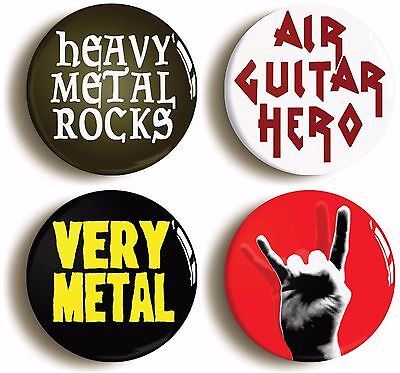 HEAVY METAL ROCK FUNNY BADGE BUTTON PIN SET (Size is 1inch/25mm diameter)
