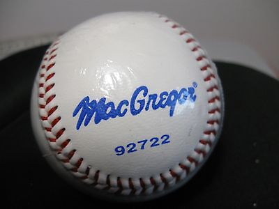 """New sealed MacGregor Official League 92722 Cork and Rubber Core 9"""" baseball"""