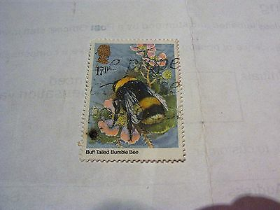 Gb 1985 Commemorative Insects Buff Tailed Bumble Bee Stamp