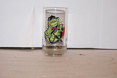 Vintage 1989 Ghostbusters II Slimer Bus Driver Promo Drinking Glass