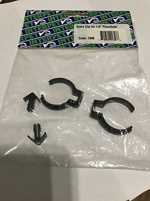 "Spare Clip Replacement 1.5"" Fluorescent Tube Fluro Bracket Interpet"