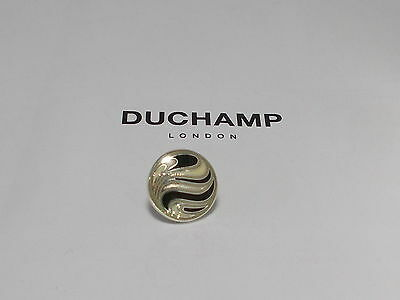 Sterling 925 Silver  =Circle Swirl Tie/lapel Pin By Duchamp London =Rare.