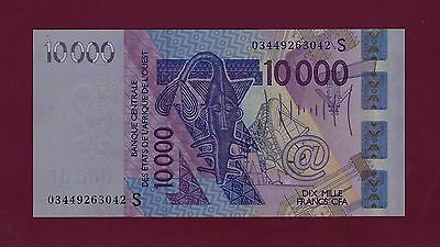 West African States Guinea Bissau 10000 Francs 2003 P-918Sa  UNC RARE