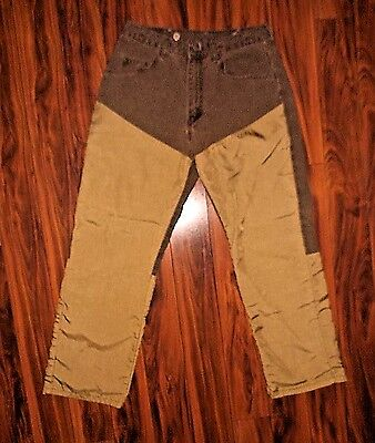Wrangler Pro Gear mens 33x30 brush guard jeans brown hunting heavy upland Birds