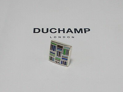 Sterling 925 Silver  =Patch Work  Tie/lapel Pin By Duchamp London =