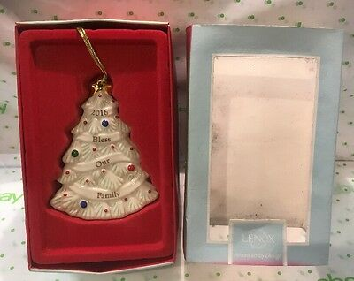 Lenox 2016 Bless Our Family Christmas Ornament New in Box MSRP $60