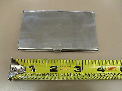 Tiffany & Co .925 Sterling Silver Business Card Holder Case 1837