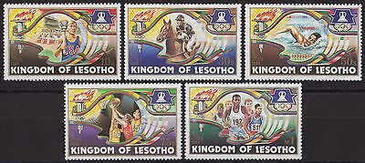LESOTHO : 1984, Olympic Games, Los Angeles (Complete set of 5, MNH)