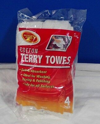 Brand New Detailer's Choice Cotton Terry Towels 4 Pack Free Economy Shipping