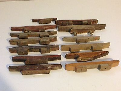 Estate Lot of Vintage Wooden Sailboat Cleats Boat Hardware Parts
