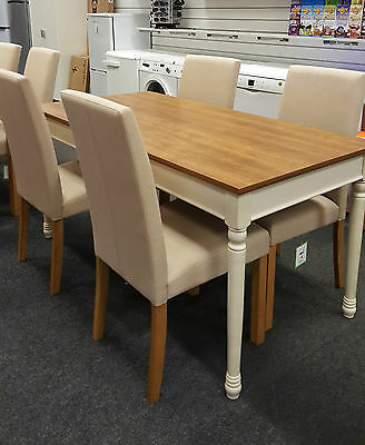 Heart of House Ellingham Dining Table and 4 Schneider Chairs