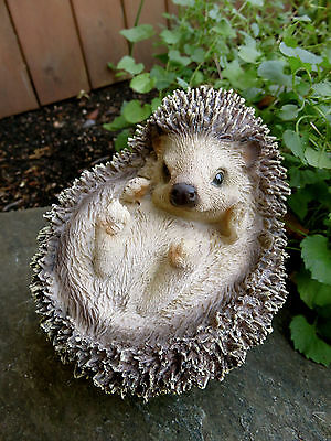 Hedgehog All Curled Up Figurine  PetPals Resin Statue Ornament New Animal 5 in.