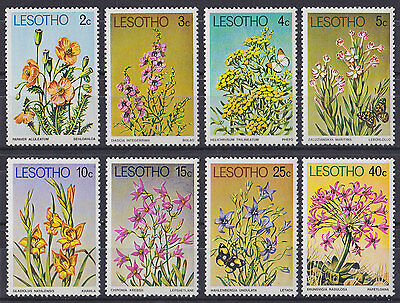 LESOTHO : 1978, Flowers (Complete set of 8, MNH)
