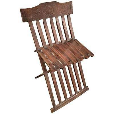 Rare Italian Renaissance Folding Chair- Late 15th / Early 16th century