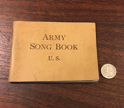 Vintage WW1 ARMY SONG BOOK US music War Department Commission World War 1 1918