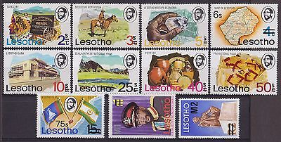 LESOTHO : 1980, 1976 Surcharged - New Values (Complete set of 11, MNH)