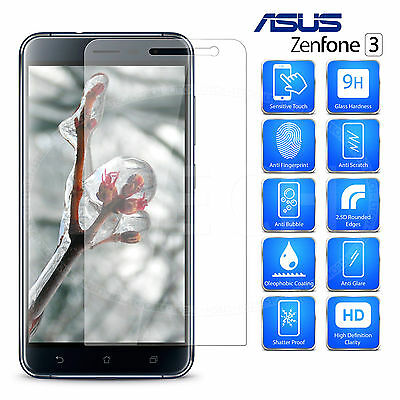 (2 Packs) Premium Tempered Glass Screen Protector for Asus Zenfone 3 ZE552KL
