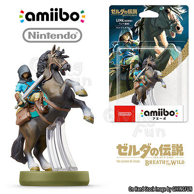 ORIGINAL Nintendo Switch amiibo ZELDA BREATH OF THE WILD LINK RIDER NFC Figure