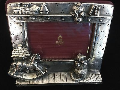 CUNILL Orfebres BABY Photo Picture FRAME Sterling Silver Leather Collectible