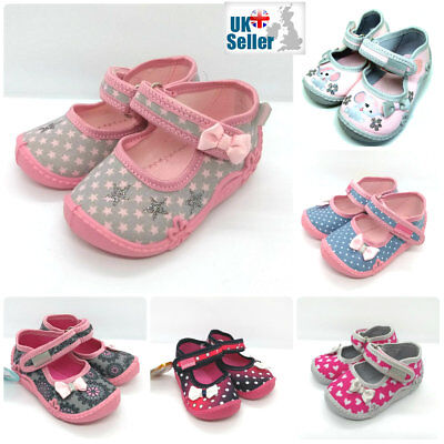 BABY GIRL SANDALS SLIPPERS TODDLER KIDS Nursery School SIZES UK 2-9 Made in EU