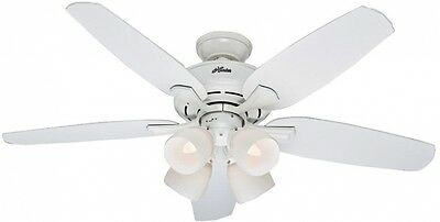 Hunter Channing 52 in. Indoor White Ceiling Fan with Light Kit