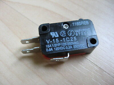 RMLON Micro Limit Switch V-15-1C25 15A 125/250VAC #E66G