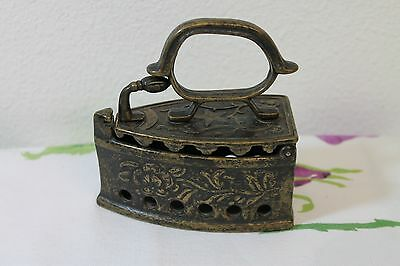 Miniature Antique Brass Coal Iron Ornate, Loads of Detail!