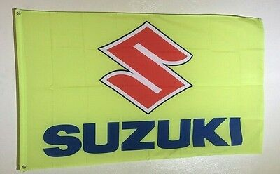 Suzuki Racing 3x5 Flag Wall Banner Garage Car Show Gift Motorcycle GSX-R 1000