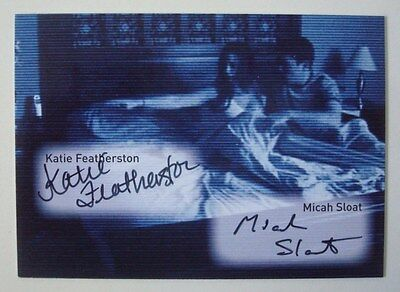 2010 *PARANORMAL ACTIVITY* Movie DUAL Autograph Card SLOAT & Katie FEATHERSTON