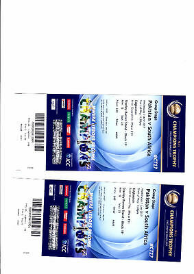 Pakistan v South Africa ICC Tickets x2