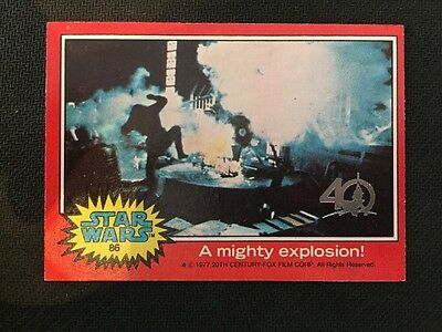 2017 Topps Star Wars 40Th Anniversary Buyback 1977 A Mighty Explosion