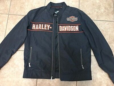 97519-12VM - Harley-Davidson® Mens High Gear Water Resistant Black Nylon (MED)
