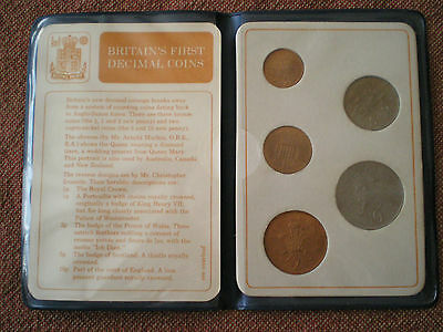 Britain's First Decimal Coins Set in Booklet