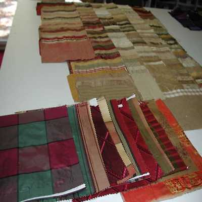 Over 200 Miscellaneous Silk Fabric Samples  for Crazy Quilting