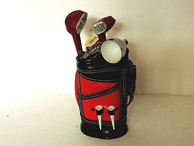 Unique Stainless Steel 8 Piece Bar Set In Black/ Red Golf Buggy