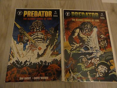 Predator the bloody sands of time #1-2 Dark Horse Comics