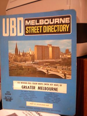 Rare Find Collectable Ubd Street Directory Melbourne 20Th Edition